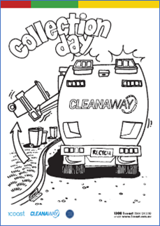 Collection Day Colouring In image