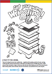 Wriggling Worms Colouring In image