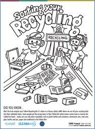 Sorting Your Recycling Colouring In image