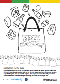 Plastic Bags Colouring In image